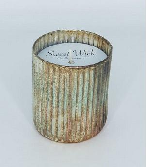 Sweet Wick Patinated Mercury Glass in Smoky Mountain Christmas Tree