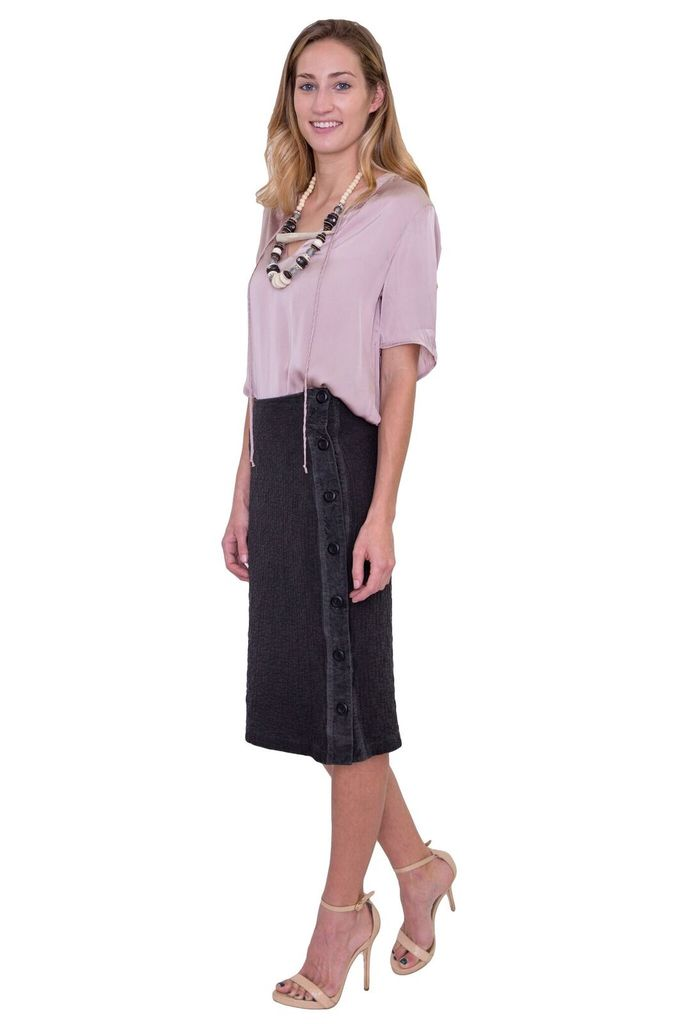 AMADI Brielle Side Button Skirt