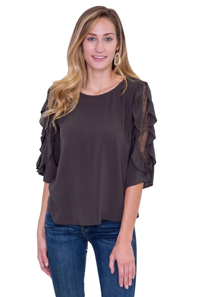 Velvet Women Wrenley 1/2 Sleeve Top