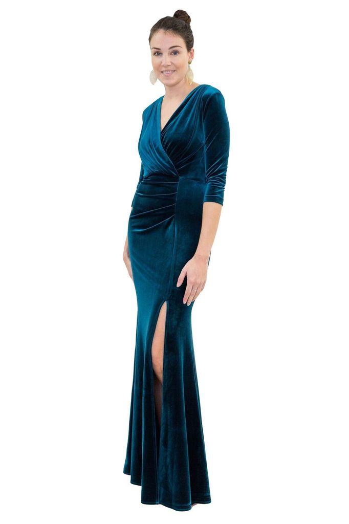 Isabel Garcia Floor Length Velvet Dress