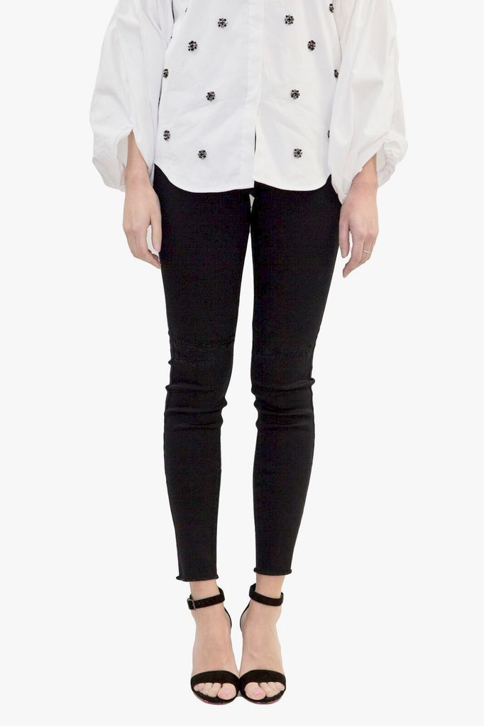 BlankNYC Night Mania Black Frayed Hem Jeans