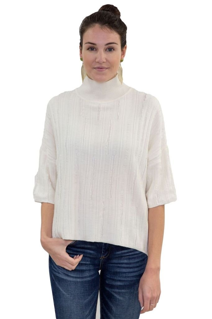 AMADI Fawn Distressed Sweater