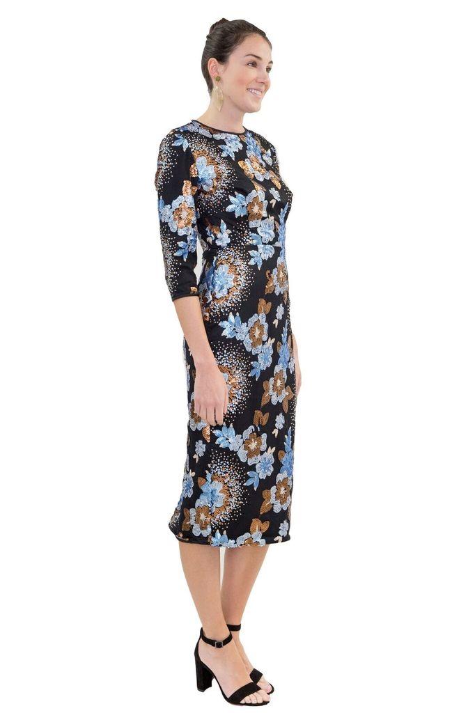 Isabel Garcia Sequin Cocktail Dress
