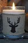 Sweet Wick Barn Wood Tumbler Candle with Deer Cover