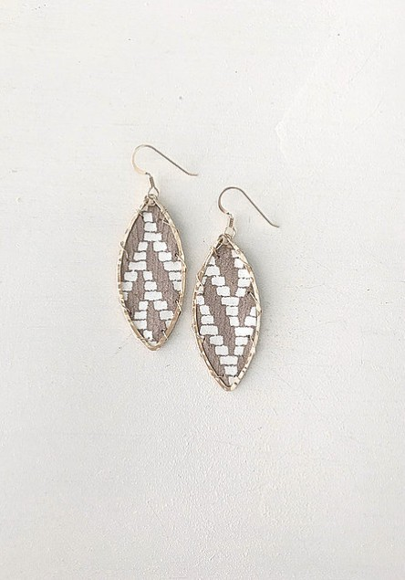 Little Fish Boateak Waterline Earrings - White Deco