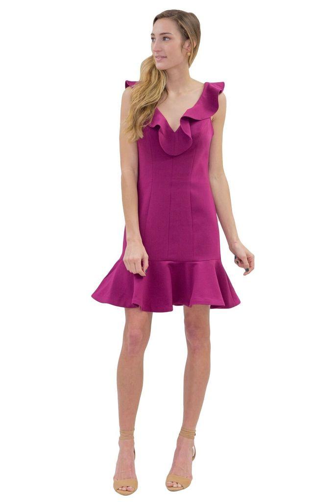 LIKELY Harlow Ruffle Mini Dress