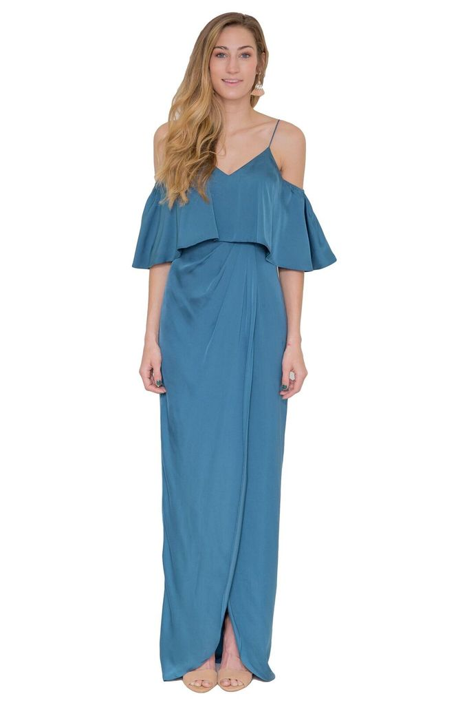 Bariano Cerulean Ruffle Top Dress