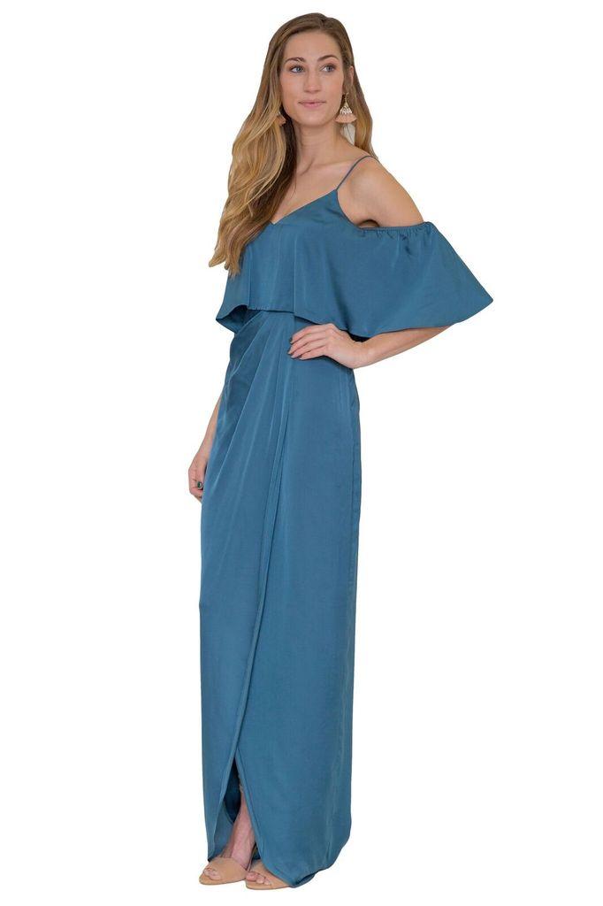Bariano Cerulean Ruffle Top Dress