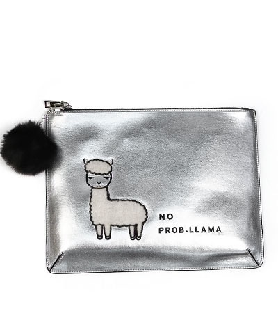 "Golden Stella ""NO-PROBLLAMA"" Large Clutch"