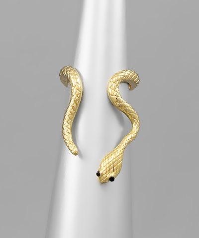Golden Stella Snake Ring