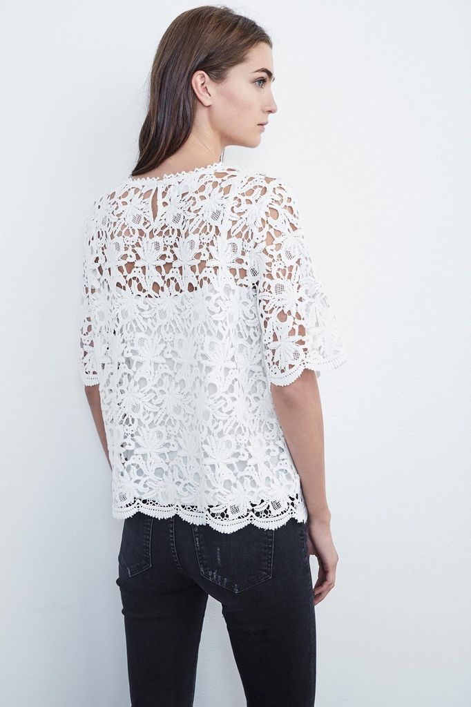 Velvet Women Kaylee Floral Lace Top