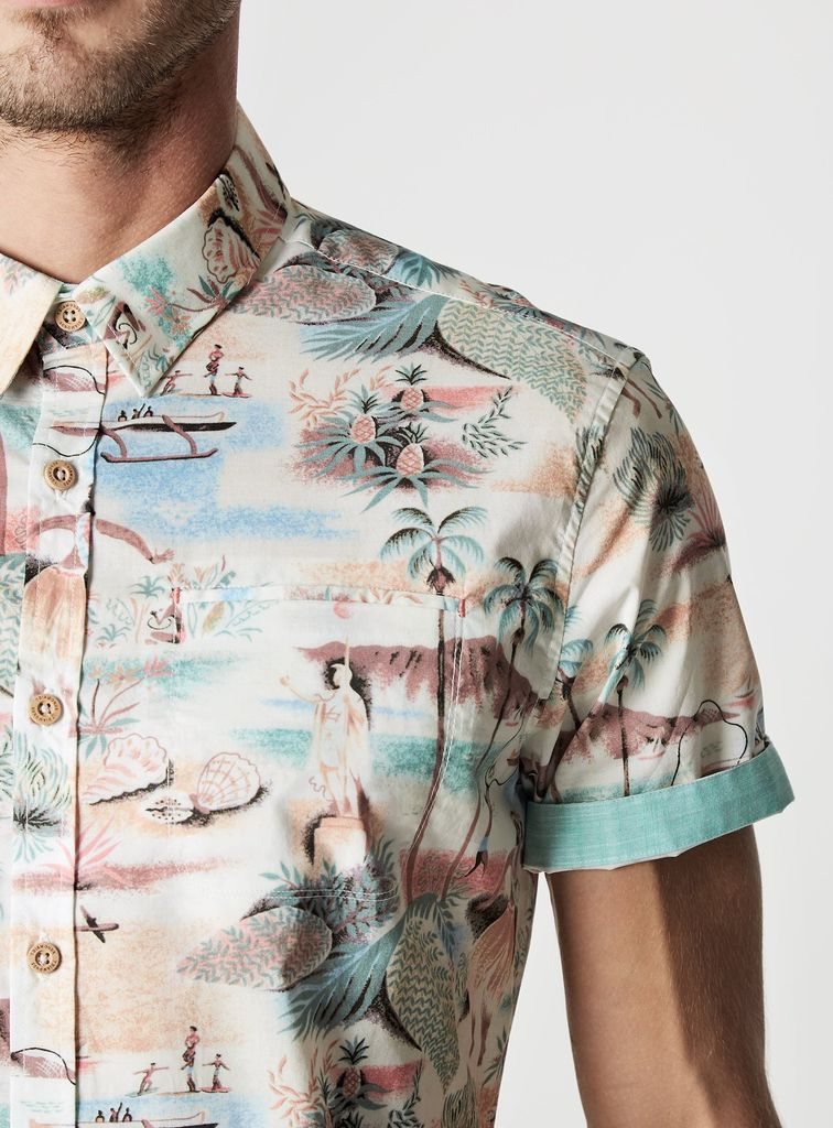 7 Diamonds Summer Air Slim Fit Short Sleeve Shirt