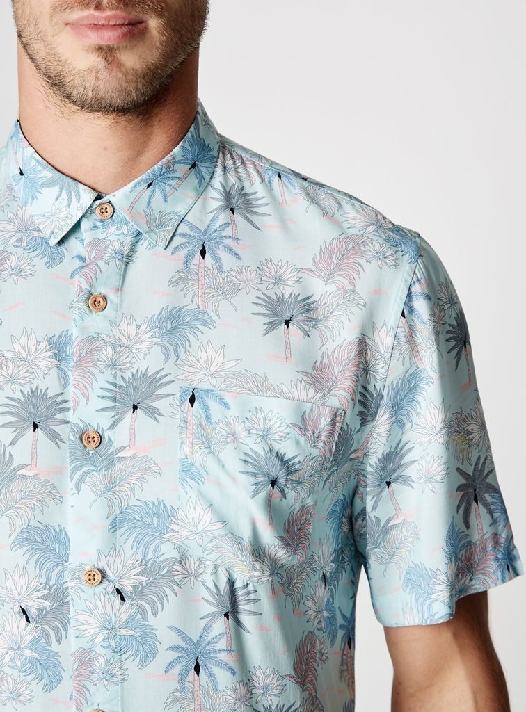 7 Diamonds Rebel Music Slim Fit Short Sleeve Shirt