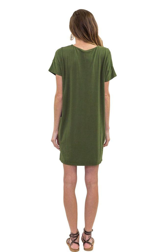 BOBI Side Pocket Tee Dress