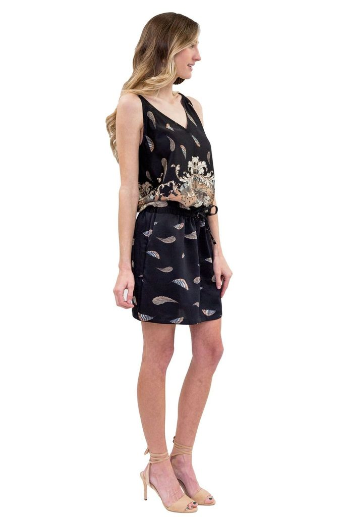 SEE YOU SOON Leaf print dress