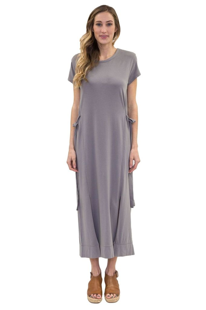 BOBI Tie Side Long Dress
