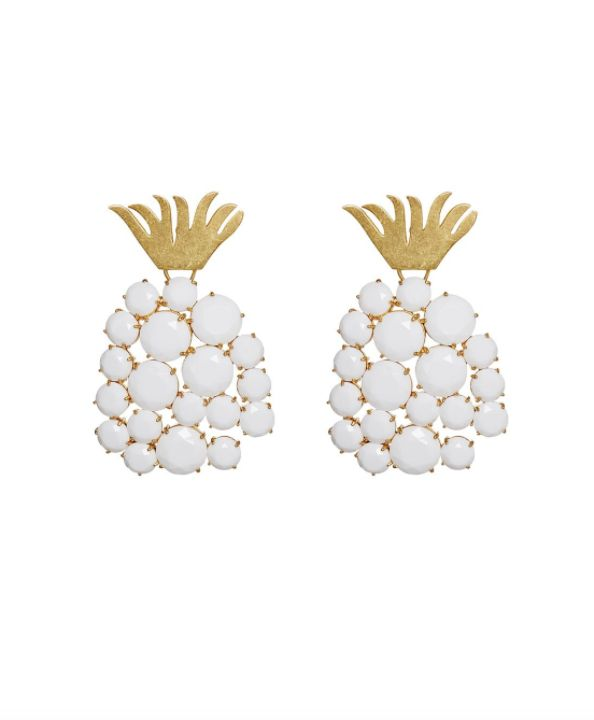 For Love & Lemons Piña Earrings in Wicker White