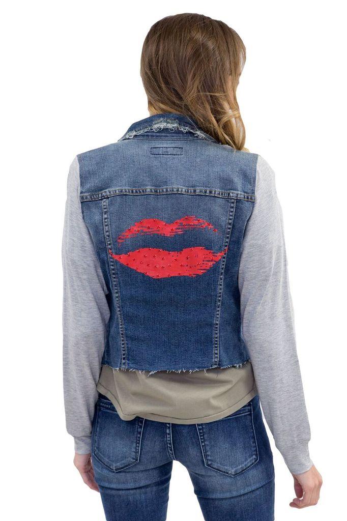 JET Lips Jean Jacket