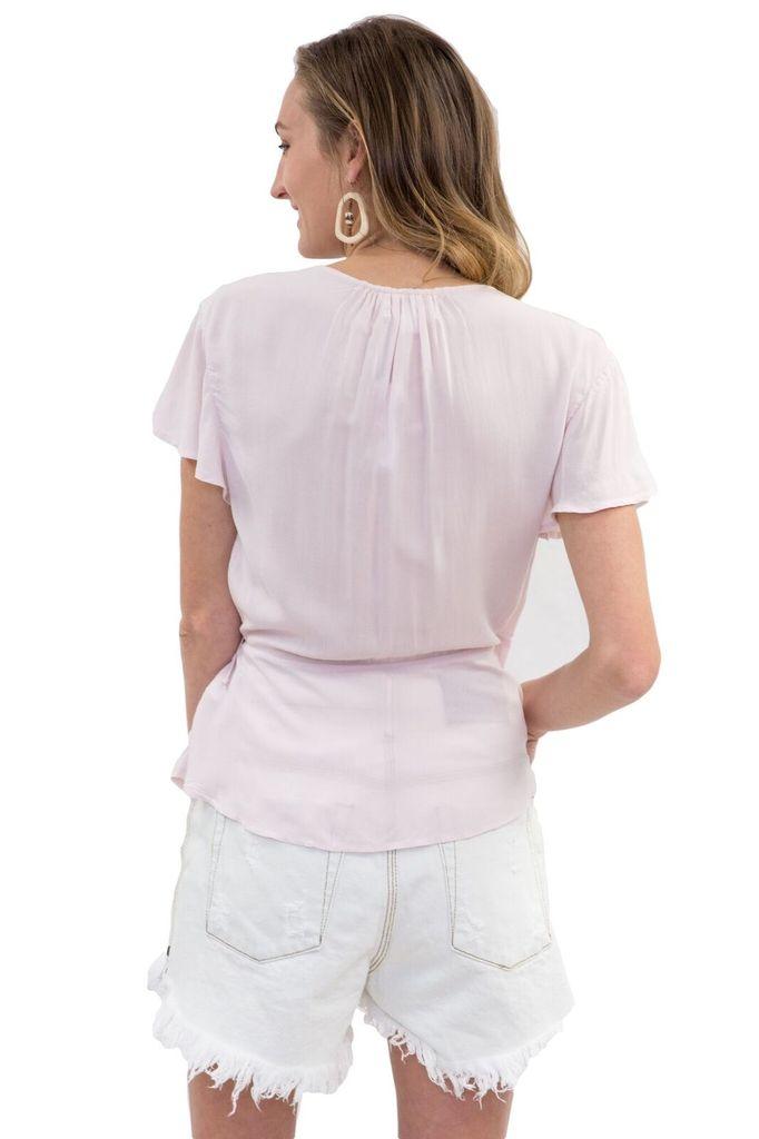 Velvet Women S/S Blush Wrap Top
