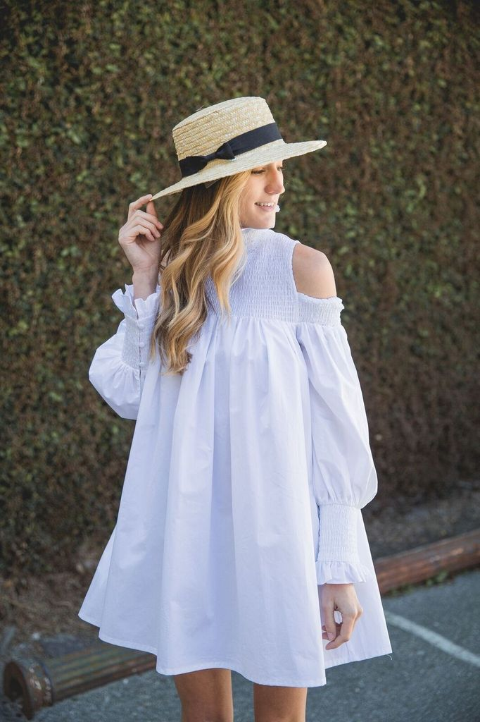 ELLIATT Ivy Shirt Dress in White