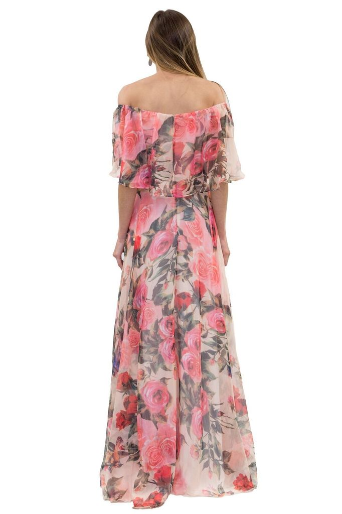 Forever Unique Bardot Pink Floral Dress