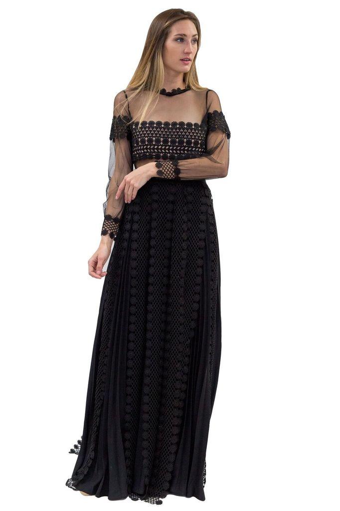 Forever Unique Black Tessa Dress