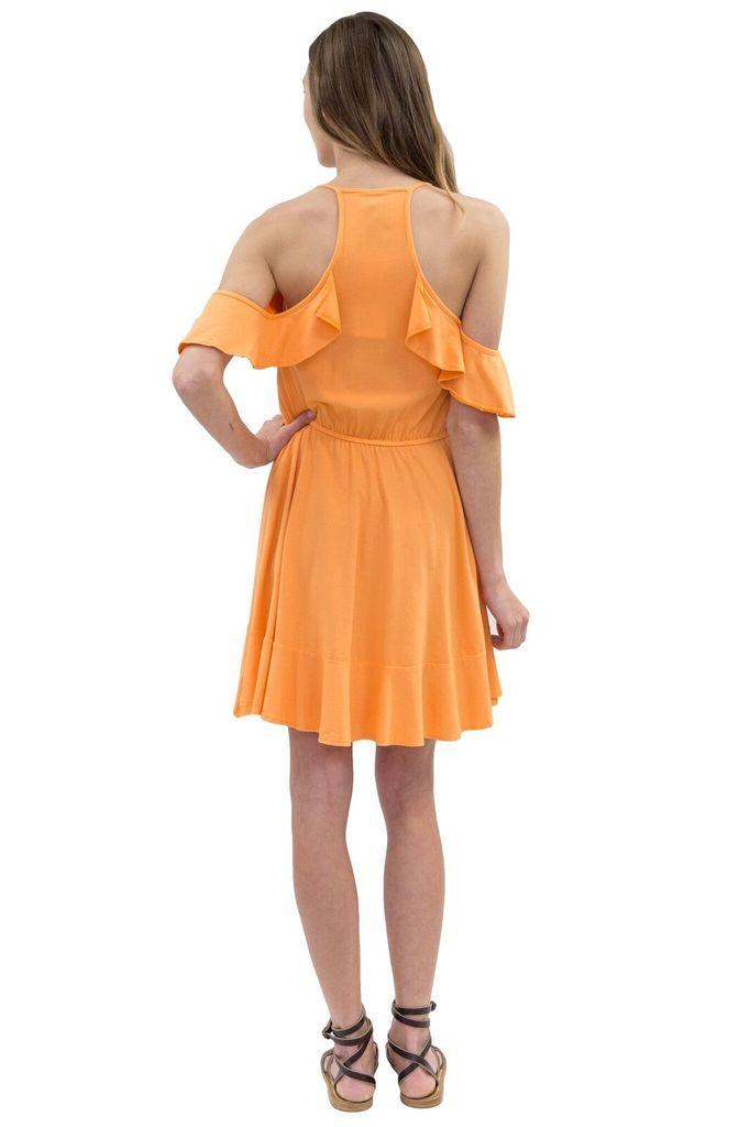 BOBI Ruffle Wrap Dress