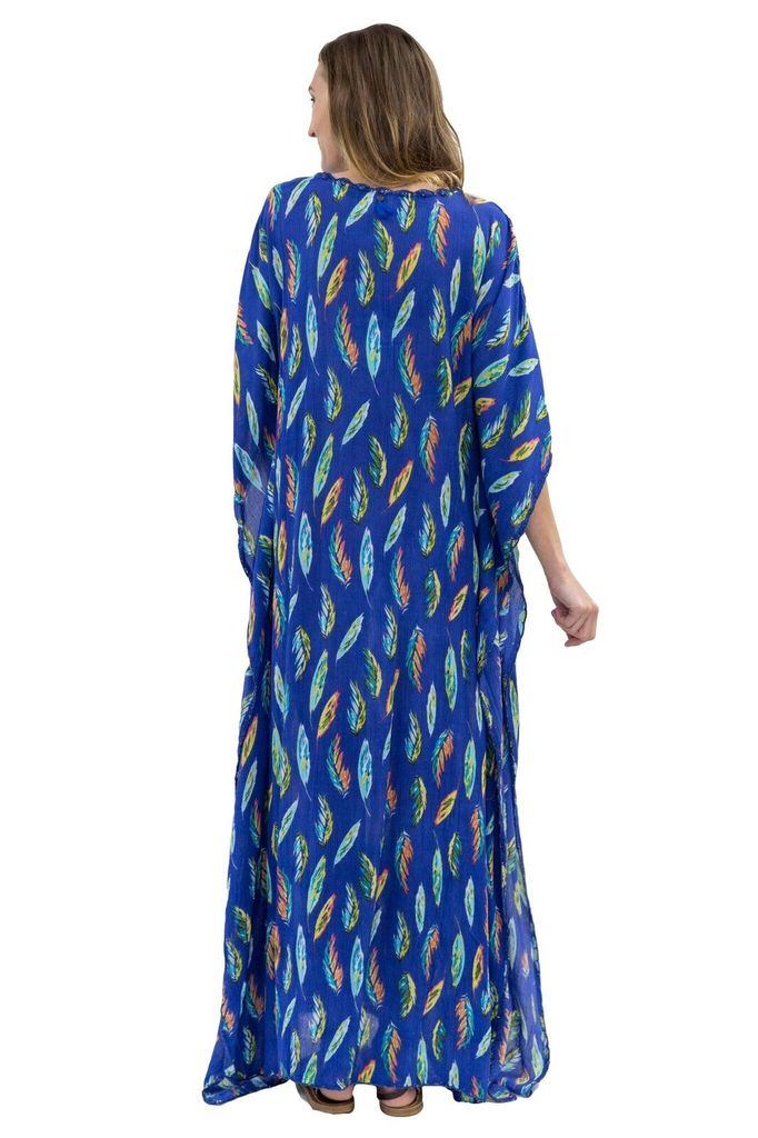 Z&L Tropical Feathers Caftan
