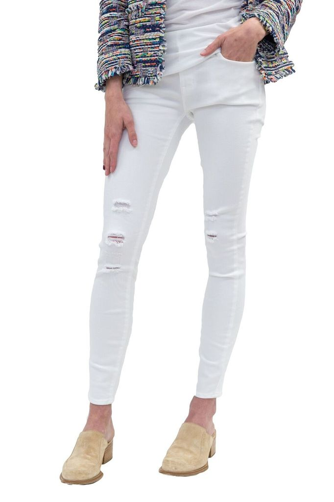 Parker Smith Kam Mid Rise Skinny Destroyed