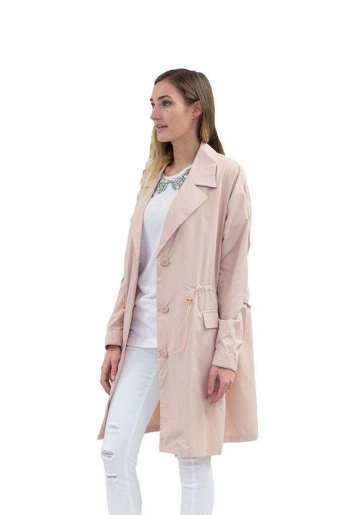 SEE YOU SOON Pink Drawstring Jacket