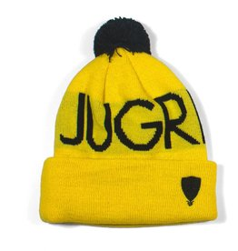 Jugrnaut Jugrnaut Heads High Beanie colors: Black and Yellow