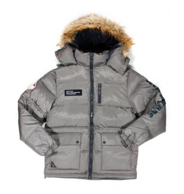 10 Deep 10 Deep Summit Bubble Jacket Grey