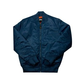 Stussy Stussy Flight Satin Bomber Jacket Navy