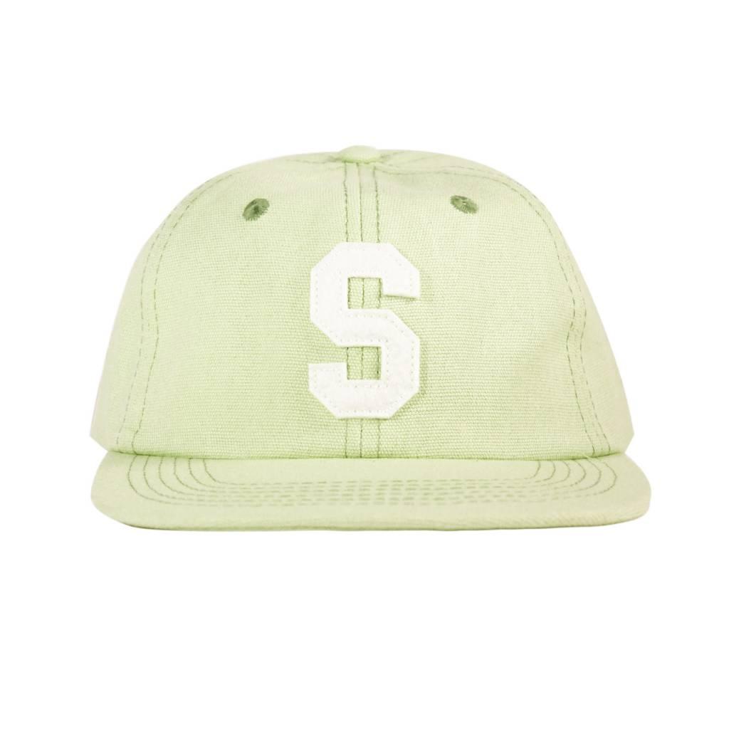 Stussy Felt S Canvas Strapback Cap Green