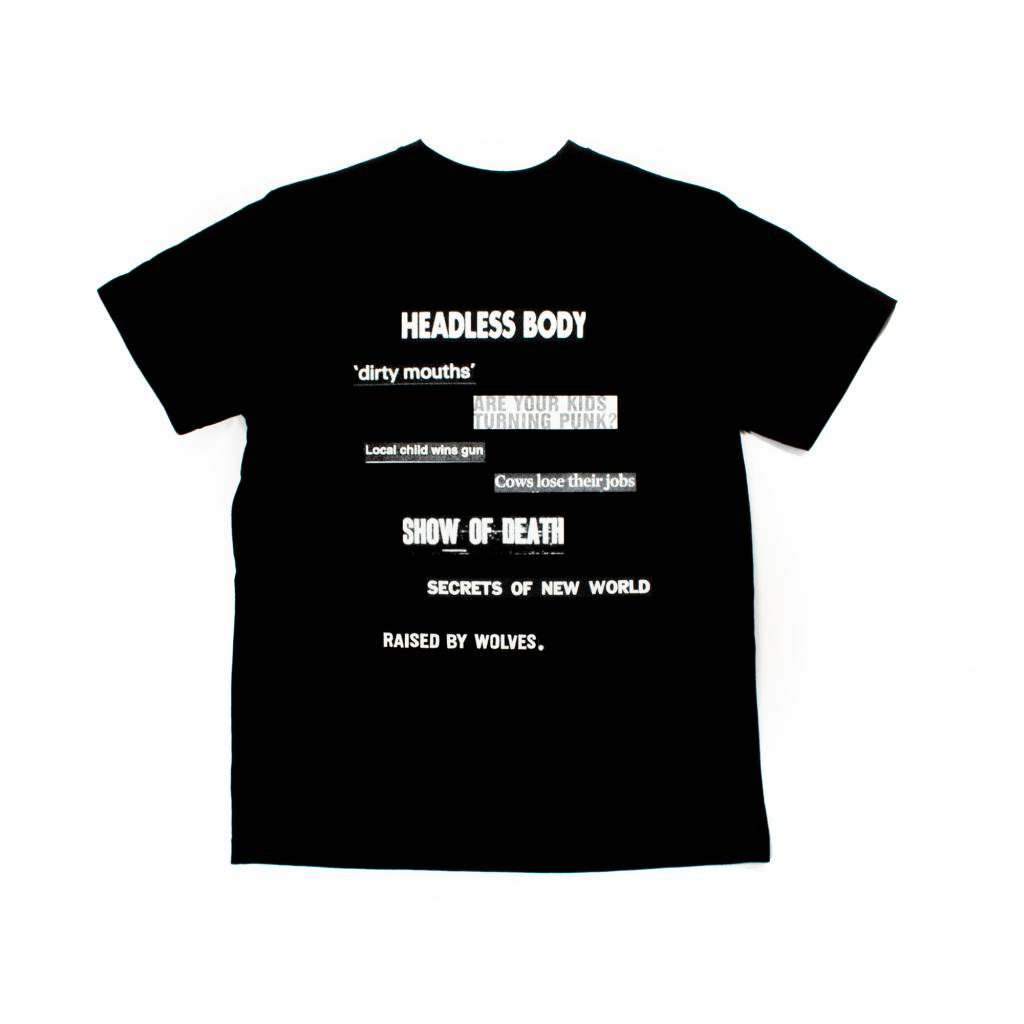 Raised By Wolves Raised by Wolves Clip T-Shirt Black