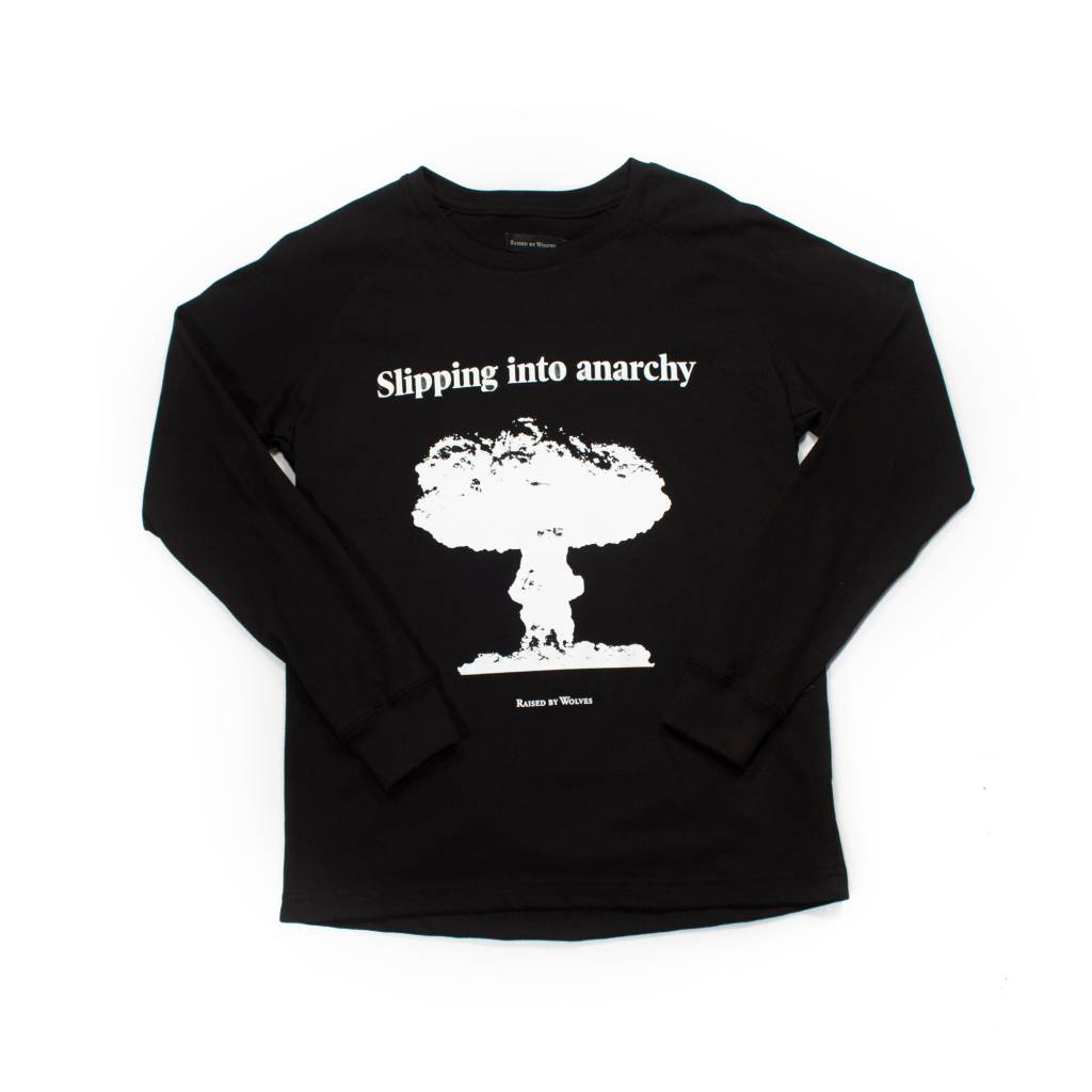 Raised By Wolves Raised by Wolves Anarchy Long Sleeve T-Shirt Black