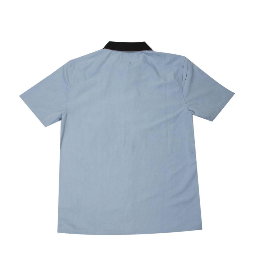 Stussy Stussy Garage Knit Collar Shirt Blue