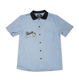 Stussy Stussy Garage Knit Collar Shirt Blue