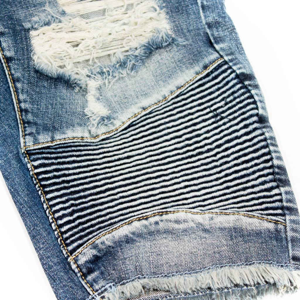 Embellish Denim Embellish Dale Biker Shorts  Blue