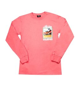Stussy Stussy Love and Hate L/S Tee Pink