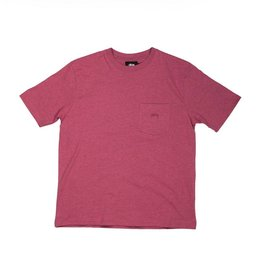 Stussy Stussy Heather O'dyed Pocket T Pink
