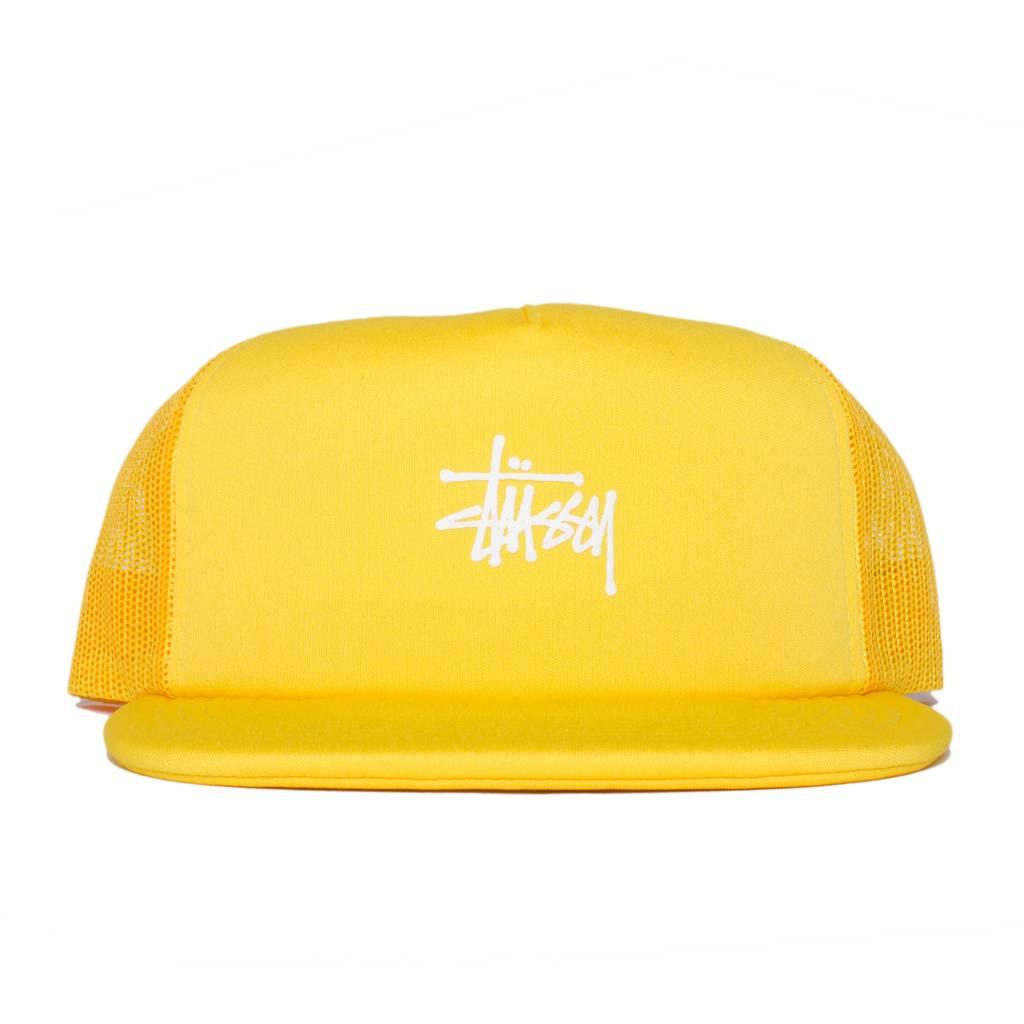 Stussy Stussy Puff Print Trucker Cap Yellow