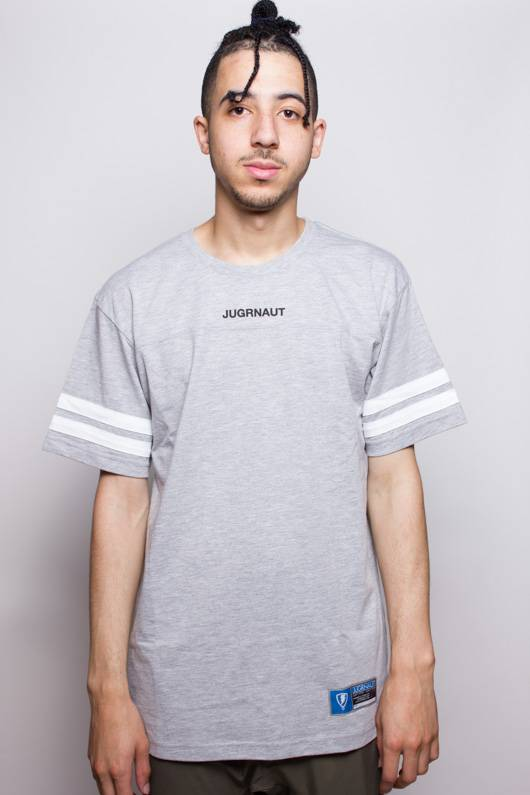 Jugrnaut Jugrnaut 27 Football Tee Grey