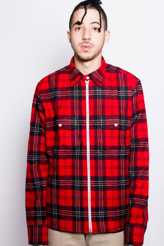Raised By Wolves Raised by Wolves Zip Flannel Red