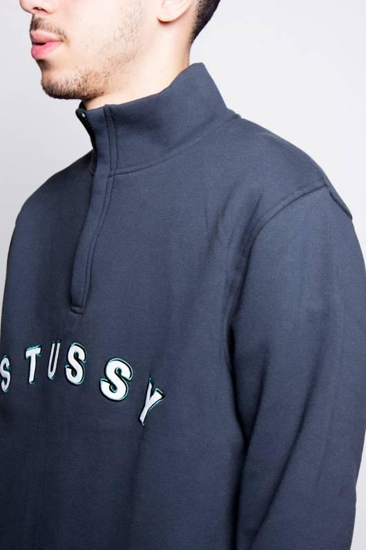 Stussy Stussy Quarter Zip Mock Neck Black
