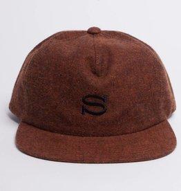 Stussy Stussy S logo Herringbone Cap Orange