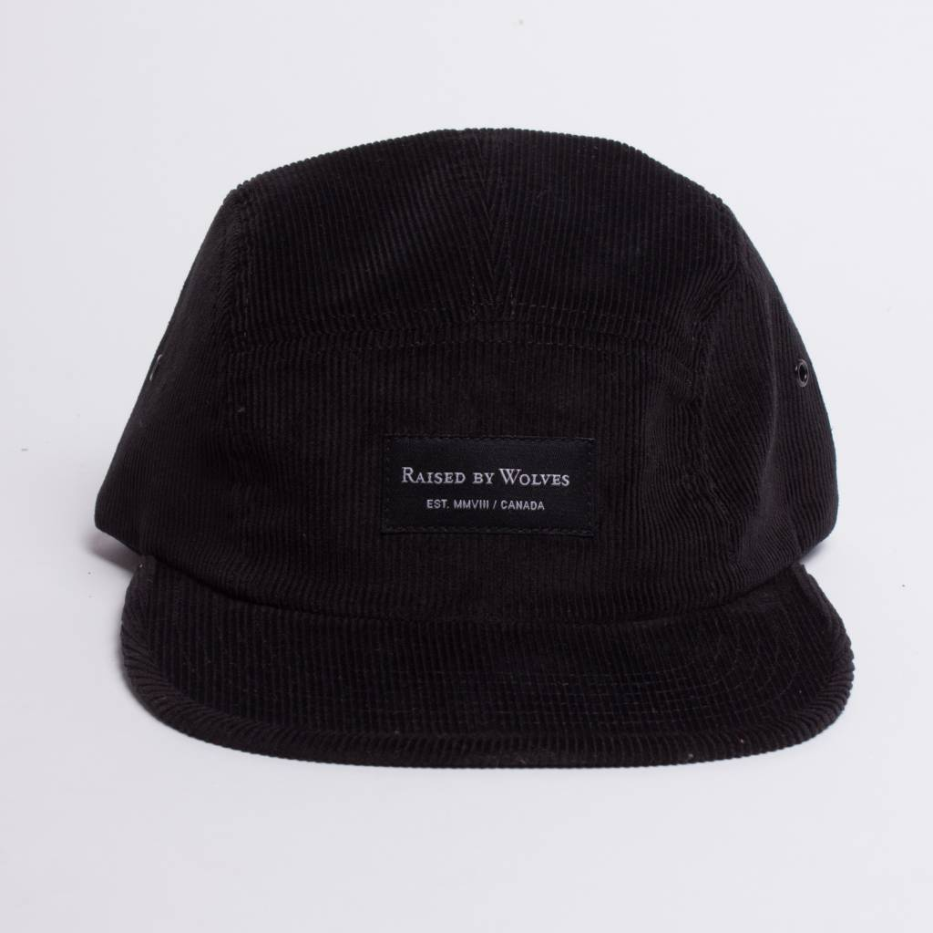 Raised By Wolves Raised By Wolves Corduroy Cap Black