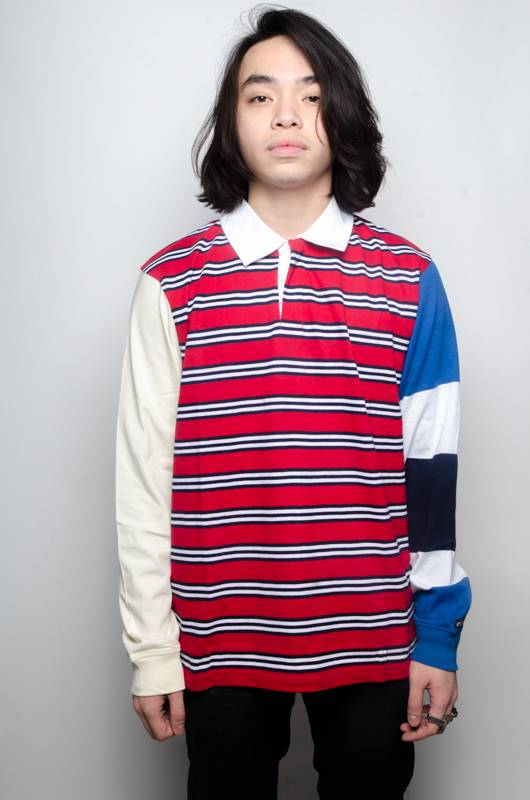 Stussy Stussy Mix Up LS Rugby Red