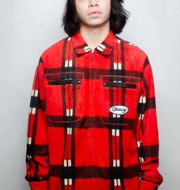 Stussy Stussy Polar Fleece Zip Up Shirt Red