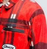 Stussy Stussy Polar Fleece Zip Up Shirt Red